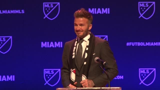 El excapitan de la seleccion inglesa David Beckham anuncio el lunes el nacimiento de un club de futbol de la Major League Soccer en Miami luego de...