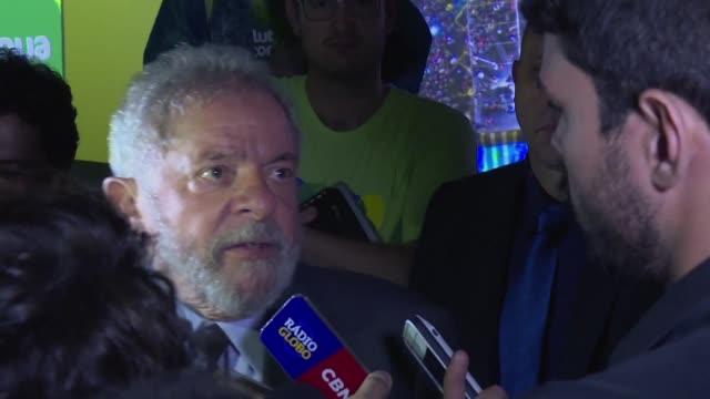 el expresidente de brasil luiz inacio lula da silva presento una denuncia ante la comision de derechos humanos de la onu afirmando ser victima de una... - politica stock videos & royalty-free footage