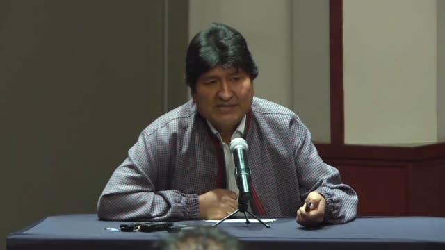 el expresidente evo morales insistio el miercoles en que la represion de las protestas constituyen un genocidio en bolivia donde cerca de 30 personas... - evo morales stock videos & royalty-free footage