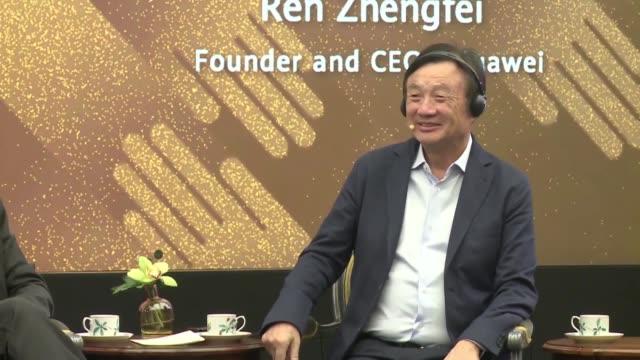 vídeos de stock, filmes e b-roll de el fundador de huawei anuncio el lunes la caida de un 40% de sus ventas de telefonos fuera de china desde que estados unidos puso en su lista negra... - fundador