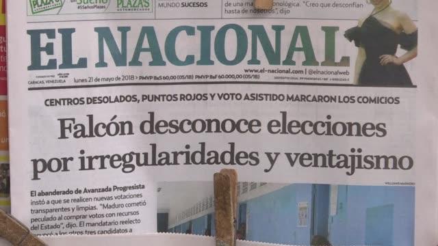 el gobierno de venezuela abrio el martes una investigacion contra la web del diario el nacional al que acusa de difundir mensajes que desconocen a... - diario stock videos and b-roll footage
