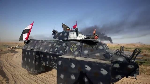 vídeos de stock, filmes e b-roll de el gobierno iraqui anuncio el lunes el lanzamiento de una operacion militar para retomar la ciudad de faluya a 50 kilometros de bagdad en manos del... - irak
