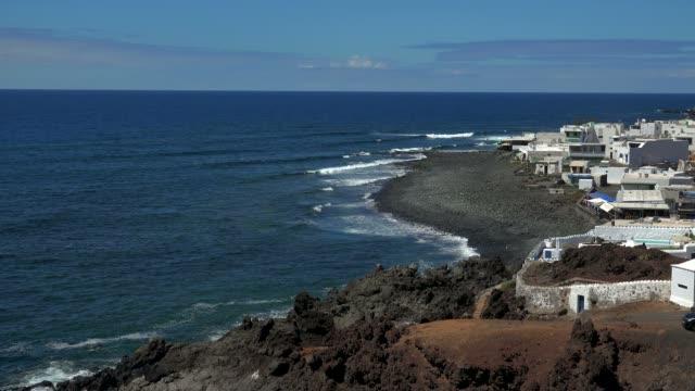 el golfo, lanzarote, canary islands, spain, atlantic, europe - atlantic islands stock videos & royalty-free footage