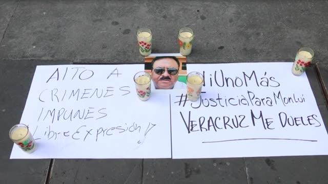 el gremio de la prensa mexicana pidio justicia tras la muerte de ricardo monlui asesinado a balazos el domingo cuando salia de un restaurante en el... - restaurante stock videos & royalty-free footage