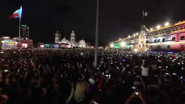 el grito the mexican independence festivity in the zocalo - political rally stock videos & royalty-free footage