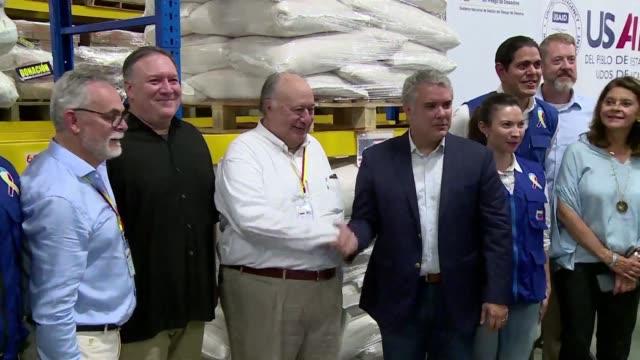 El jefe de la diplomacia estadounidense Mike Pompeo se reunio con el presidente colombiano Ivan Duque en la ciudad fronteriza de Cucuta e insto al...