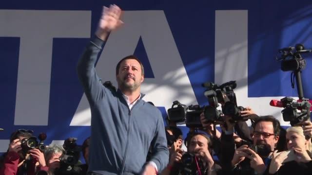 vídeos y material grabado en eventos de stock de el ministro del interior y líder de la ultraderechista liga matteo salvini reclamo el jueves elecciones anticipadas en italia desatando una crisis... - política y gobierno
