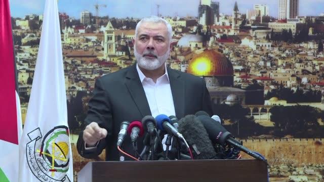 el movimiento islamista hamas llamo el jueves a una nueva sublevacion palestina contra el reconocimiento de donald trump a jerusalén como capital de... - palestina stock videos and b-roll footage