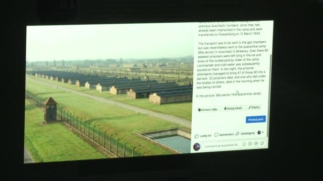 el museo del campo de concentración nazi de auschwitz es la institución cultural más seguida en twitter con más de un millón de adheridos - nazismo stock videos & royalty-free footage