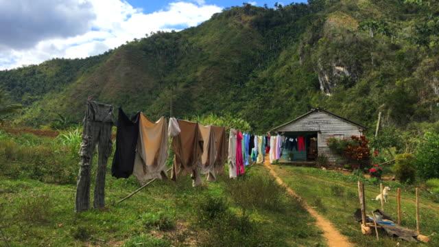 vídeos y material grabado en eventos de stock de el nicho, cuba: the place is an ecotourism tourist destination in the escambray mountains - campesino