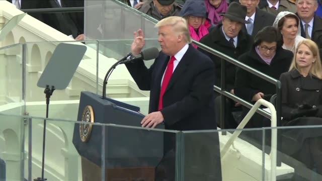 stockvideo's en b-roll-footage met el nuevo presidente estadounidense donald trump prometio el viernes que su gobierno reforzara y formara alianzas para poner fin a la amenaza que... - bedreiging