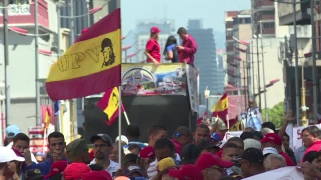el parlamento de venezuela de mayoria opositora suspendio el martes el juicio sobre la responsabilidad politica del mandatario nicolas maduro en la... - politica stock videos & royalty-free footage