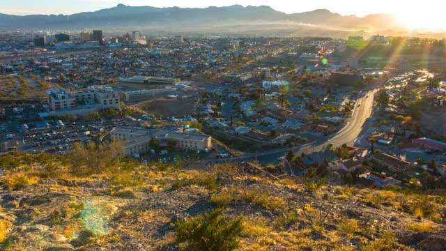 El Paso and Juarez Sunset