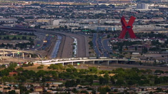 El Paso  Texas and International Border to Ciudad Juarez Mexico