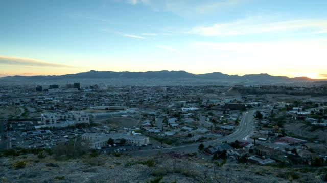 El Paso TX, und Ciudad de Juarez Chijuajua Sonnenuntergang