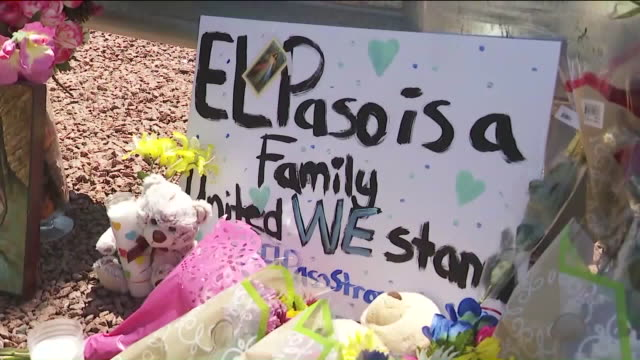 ktla el paso tx us flowers and votive candles on street to honor victims of the el paso shooting on sunday august 4 2019 - votive candle stock videos and b-roll footage