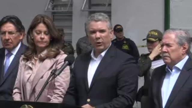 El presidente colombiano Ivan Duque condeno el jueves el atentado con un coche bomba que estallo en una academia de policia en Bogota y prometio que...