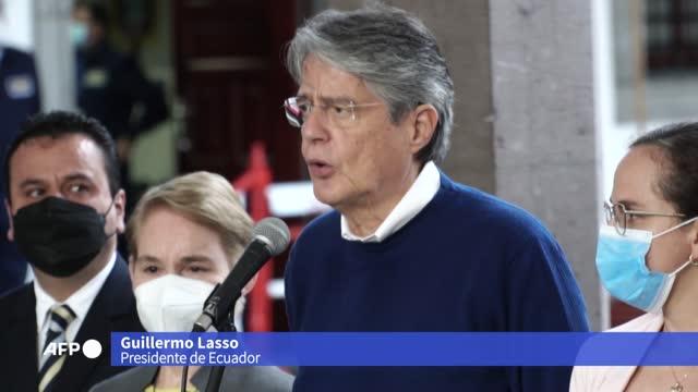 vídeos y material grabado en eventos de stock de el presidente de ecuador, el derechista guillermo lasso, rechazó suspender el alza de precios de combustibles como plantea la principal organización... - presidente de organización