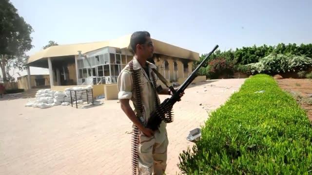 el presidente de la asamblea nacional libia mohamed al megaryef acuso a al qaida de ser responsable del mortifero ataque al consulado estadounidense... - extremism stock videos & royalty-free footage