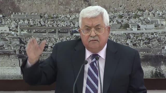 el presidente de la autoridad palestina mahmud abas llamo el lunes hijo de perra al embajador de estados unidos en israel david friedman la casa... - palestina stock videos and b-roll footage