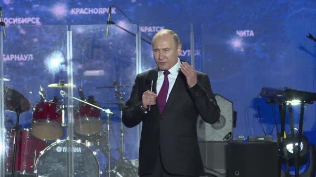 El presidente de Rusia Vladimir Putin en campana para su reeleccion a un cuarto mandado agradecio el miercoles a los residentes de Crimea por su...