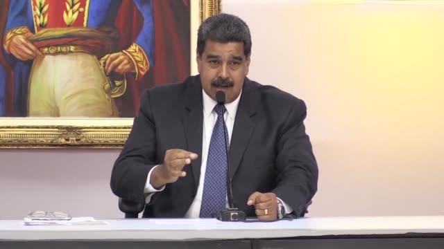 el presidente de venezuela y candidato a la reeleccion nicolas maduro llamo el viernes a sus adversarios a reconocer el resultado de los comicios del... - grueso stock videos and b-roll footage