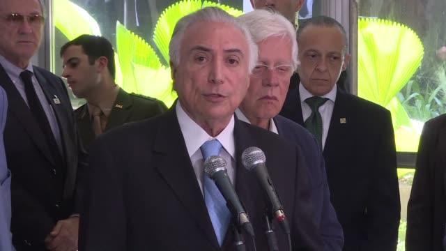 El presidente Michel Temer viajo al estado brasileno de Rio de Janeiro el sabado para definir las lineas de la implantacion de un nuevo sistema de...