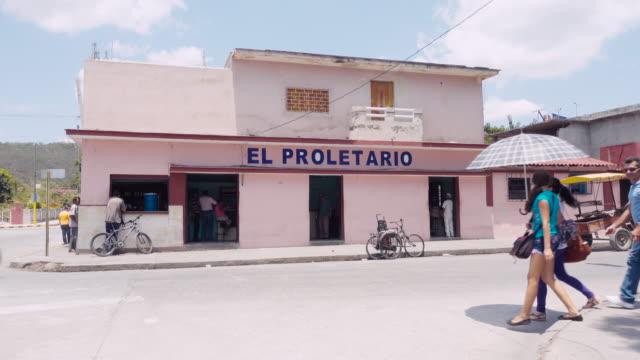 El Proletario bar in Cuba. Proletarian working-class name of a pub