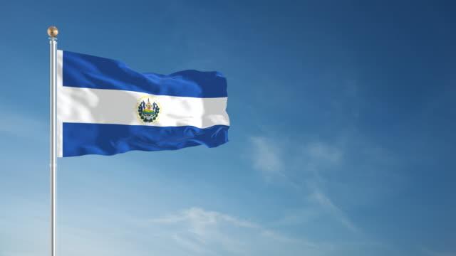 4K El Salvador Flag - Loopable