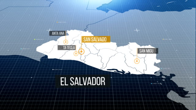 el salvador map - deportation stock videos and b-roll footage
