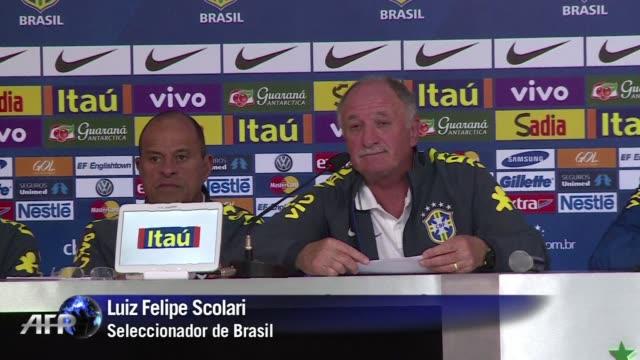 el seleccionador de brasil no despejara las dudas sobre su continuidad al frente de la canarinha hasta que termine el mundial - 2014 video stock e b–roll