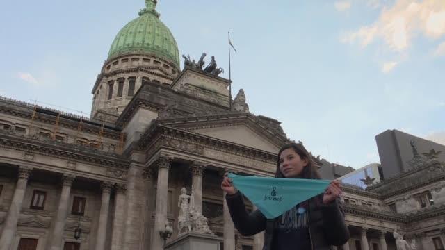 el senado argentino inicio el martes la discusion en comisiones del proyecto de ley para despenalizar el aborto que ya fue aprobado en la camara de... - aprobado stock videos & royalty-free footage