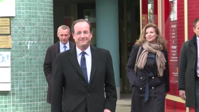 el socialista francois hollande encabeza este domingo la primera vuelta de la presidencial francesa con entre 28 y 30% de los votos voiced hollande... - tulle stock videos and b-roll footage
