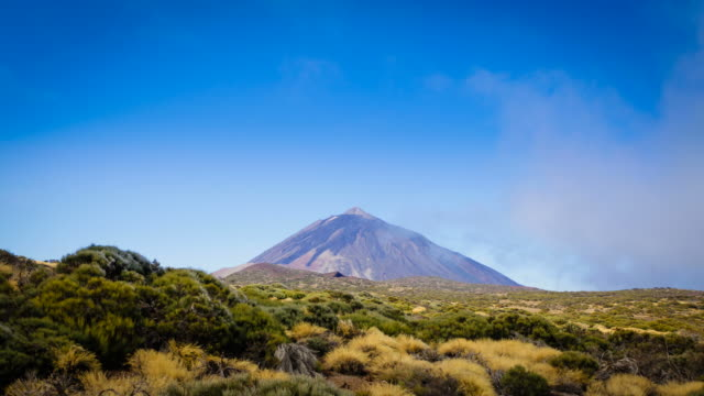 El Teide Volcano Timelapse, Canary islands, Clouds in Motion