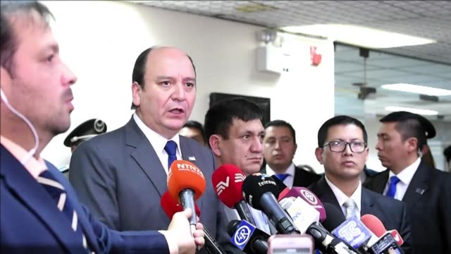 el vicepresidente de ecuador jorge glas fue condenado el miercoles a seis anos de prision por recibir sobornos de la empresa brasileña odebrecht - bestechung stock-videos und b-roll-filmmaterial