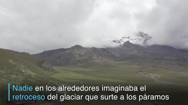 el volcan nevado chimborazo de 6.310 metros de altura ya no tiene su imponente atuendo de hielo - hielo bildbanksvideor och videomaterial från bakom kulisserna