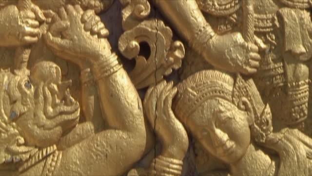 CU TU Elaborate Buddhist carving, Luang Prabang, Laos