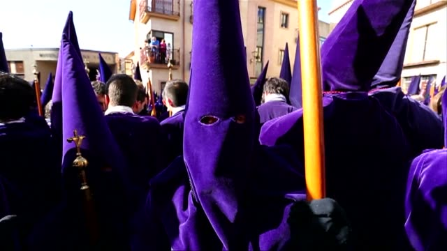 elaborate processions take place throughout holy week in spain a tradition dating back to the middle ages - holy week stock videos & royalty-free footage