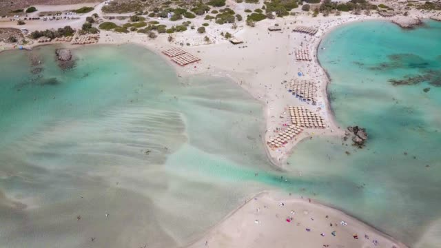 elafonissi beach,nature lover's paradise - caribbean stock videos and b-roll footage