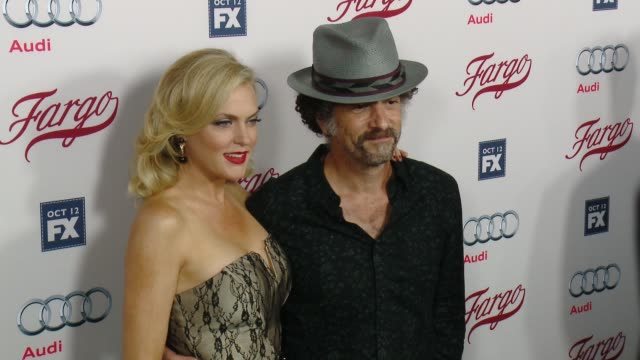 elaine hendrix and john ales at fx's fargo los angeles premiere at arclight cinemas on october 07 2015 in hollywood california - arclight cinemas hollywood stock videos & royalty-free footage