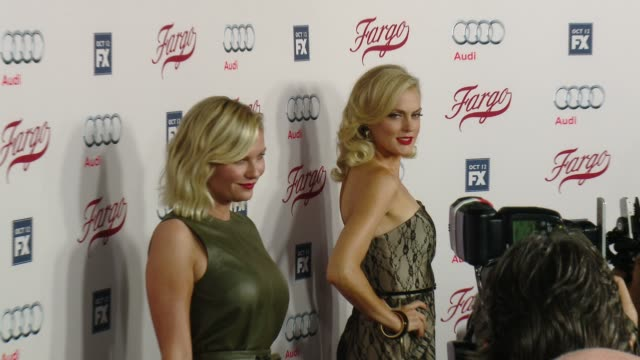 elaine hendrix and kirsten dunst at fx's fargo los angeles premiere at arclight cinemas on october 07 2015 in hollywood california - arclight cinemas hollywood stock videos & royalty-free footage