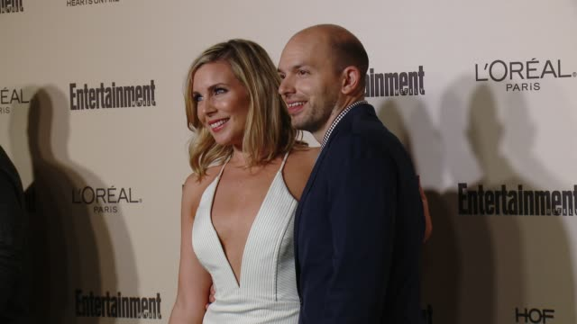 elaine hendrix and paul scheer at entertainment weekly's preemmy celebration at fig olive melrose place on september 18 2015 in west hollywood... - entertainment weekly stock videos and b-roll footage