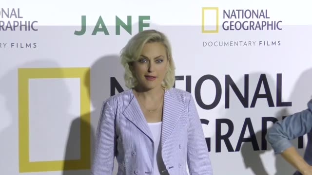 elaine hendrix at the premiere of national geographic documentary films' 'jane' at the hollywood bowl on october 09, 2017 in los angeles, california. - ドキュメンタリー映画点の映像素材/bロール