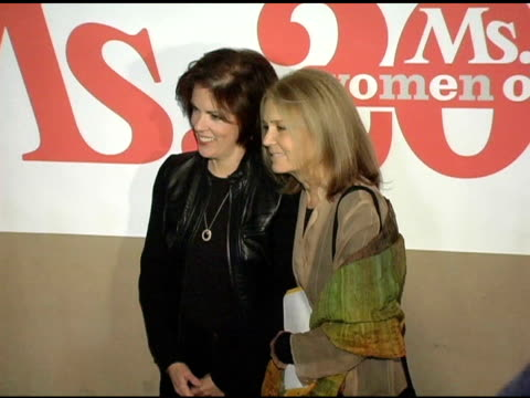 elaine lafferty and gloria steinem at the ms magazine 2004 women of the year arrivals at spider club in los angeles, california on november 29, 2004. - house spider stock videos & royalty-free footage