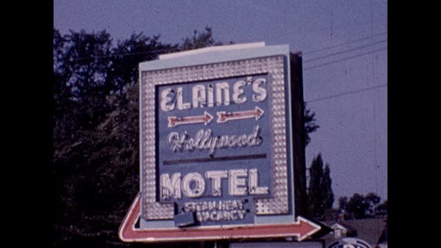 1961 elaine's hollywood motel - motel stock videos and b-roll footage