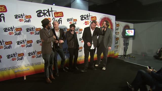 elbow at the brit awards backstage at london - elbow stock videos & royalty-free footage