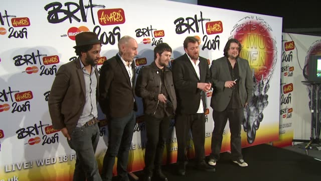 elbow on beating coldplay and mercury and mainstream success at the brit awards backstage at london - elbow stock videos & royalty-free footage