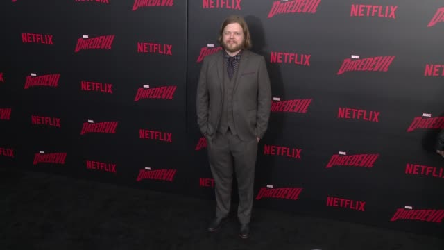 elden henson at daredevil season 2 premiere at amc loews lincoln square on march 10 2016 in new york city - amc loews stock videos and b-roll footage
