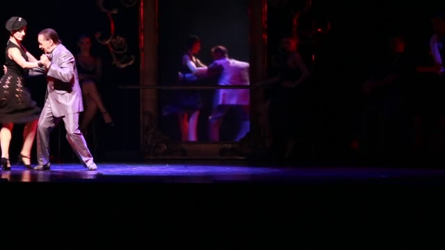 elder tango dancer with a younger female tango dancer during the show tango porteno in buenos aires argentina dancing - ballroom dancing stock videos & royalty-free footage