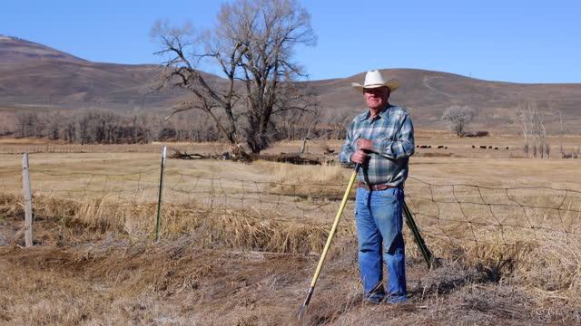 elderly cattle rancher - gunnison stock videos & royalty-free footage